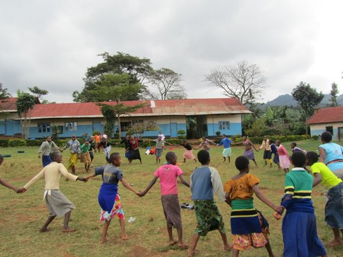Playing games after school in Myika, Tanzania 2013