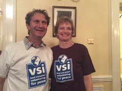 Joanna leser with husband vsi tshirt