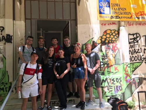 group EVS in Greece last day photo